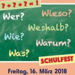 Schulfest, Freitag 16.3.2018