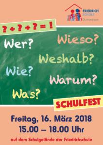 Schulfest Friedrichschule Durmersheim 2018